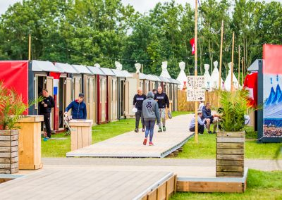 Flexotels at comfort camping Defqon Festival