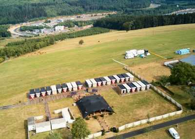 pop up hotel flexotels near race track in belgium