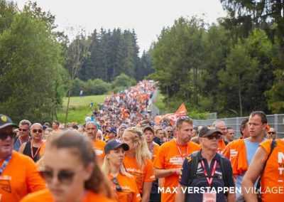 Orange walk to circuit