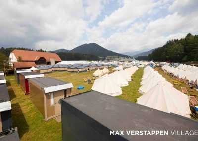 Festival tents at Max Verstappen Village