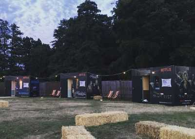 Pop up Glamping Netflix Hotel
