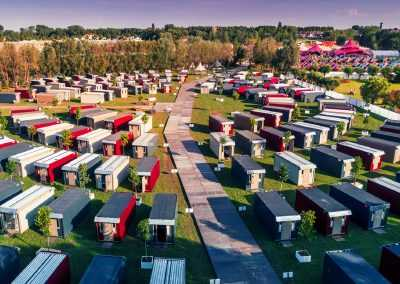 Flexotel pop up village Dreamville Tomorrowland